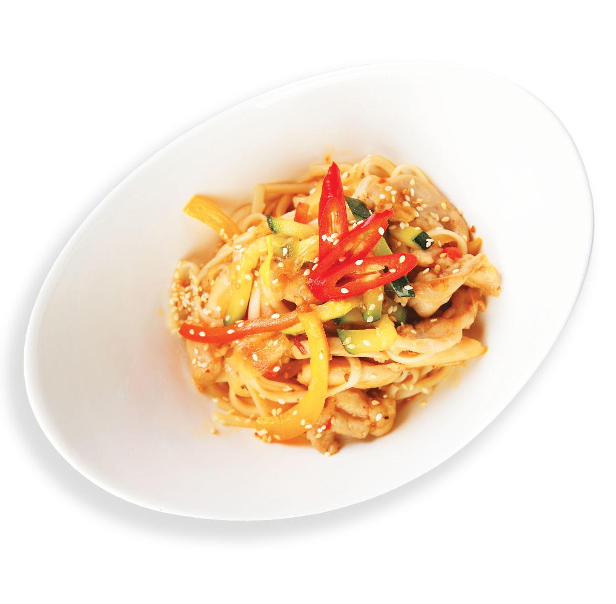 Удон с курицей и овощами: рецепт с разными соусами и другими 19
